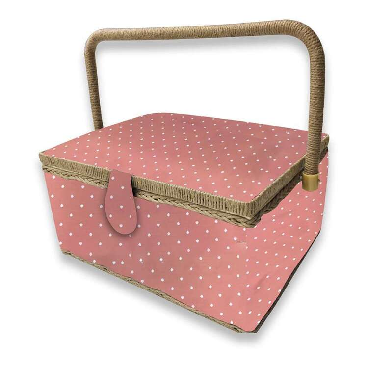 Birch Clay Spot Large Sewing Basket