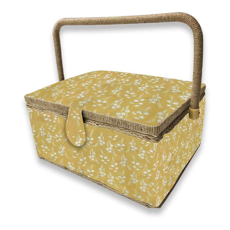 Birch Harvest Large Sewing Basket