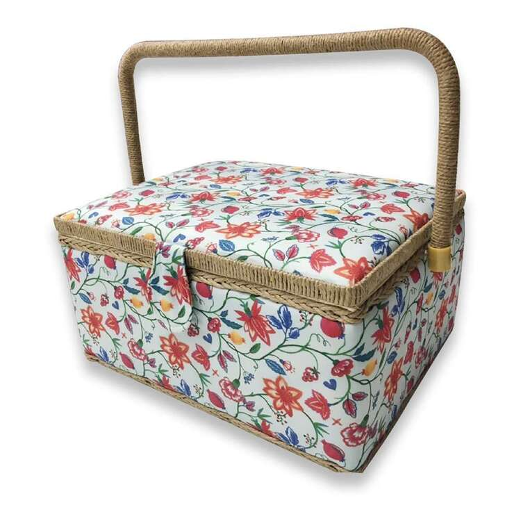 Birch Foulard Large Sewing Basket