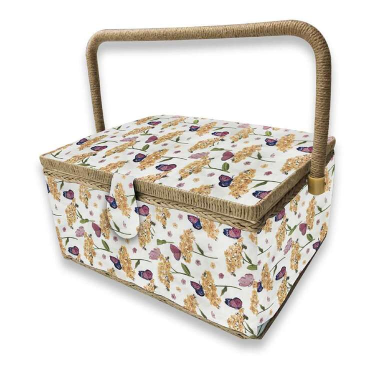 Birch Butterfly Large Sewing Basket
