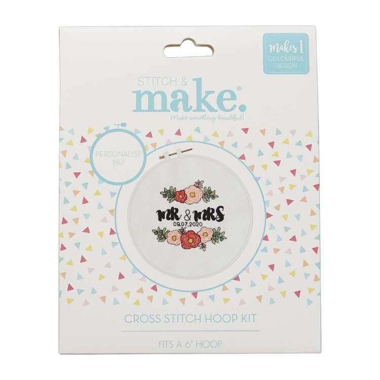Stitch & Make Mr & Mrs Floral Cross Stitch Hoop