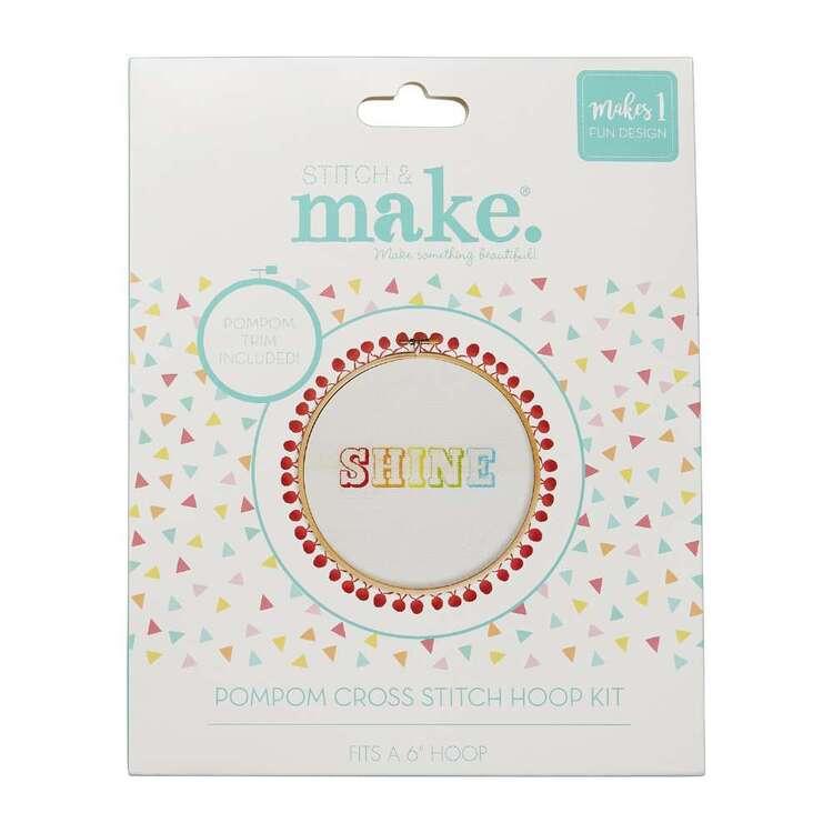 Stitch & Make Shine Cross Stitch Pom Hoop