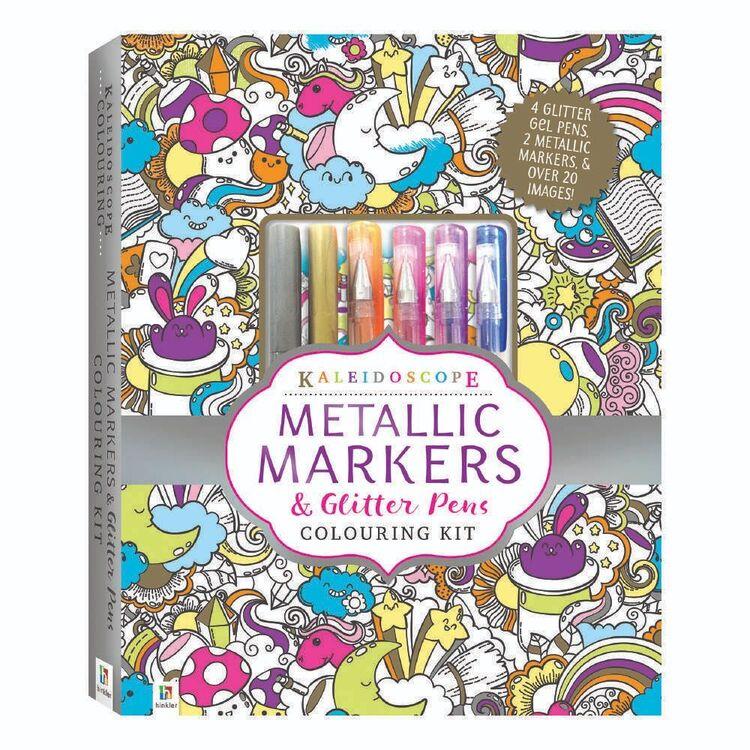 Hinkler Kaleidoscope Market Set Colouring kit