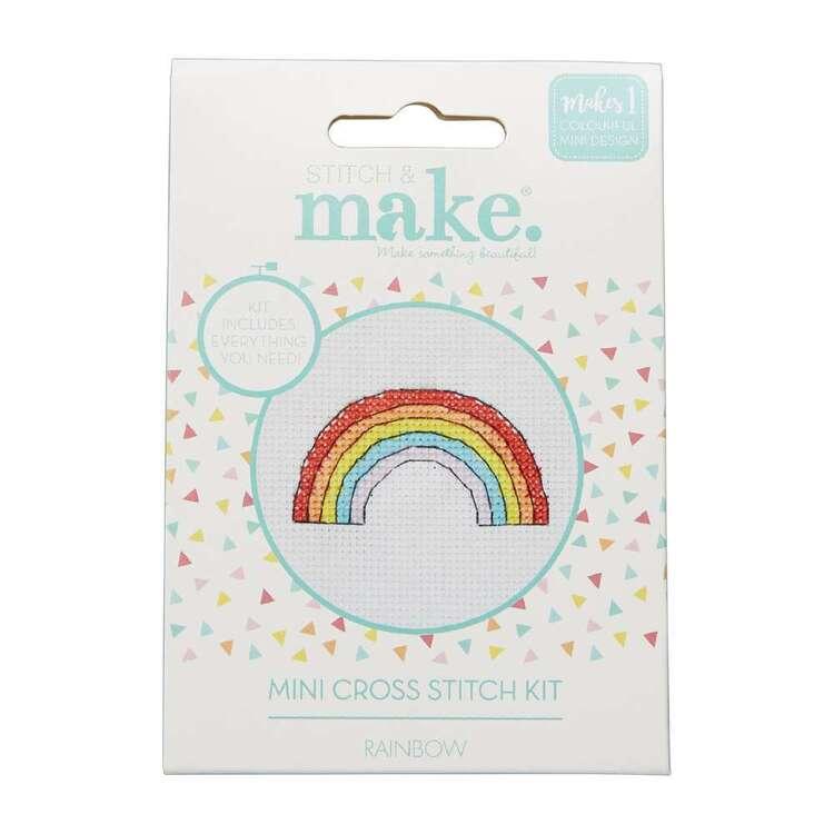 Stitch & Make Rainbow Mini Cross Stitch Kit