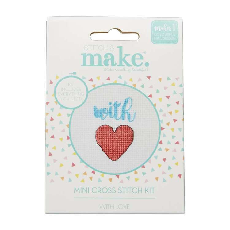 Stitch & Make With Love Mini Cross Stitch Kit