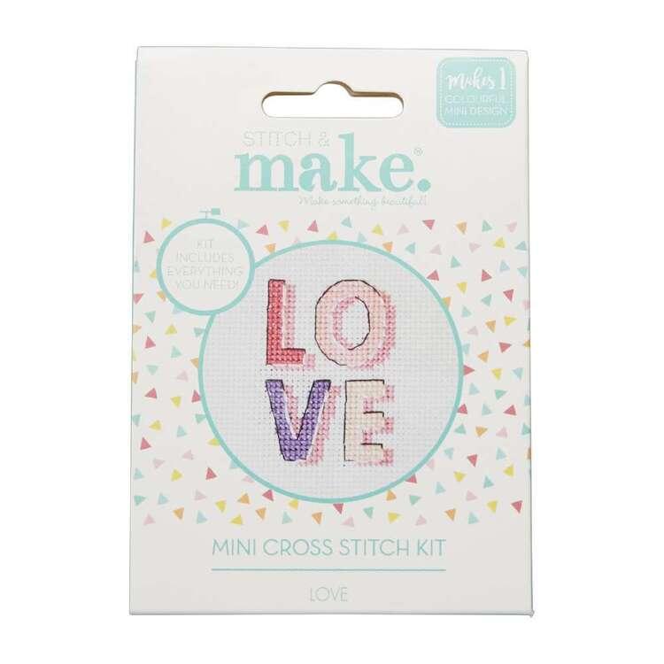 Stitch & Make Love Mini Cross Stitch Kit