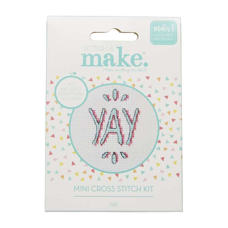 Stitch & Make Yay Mini Cross Stitch Kit
