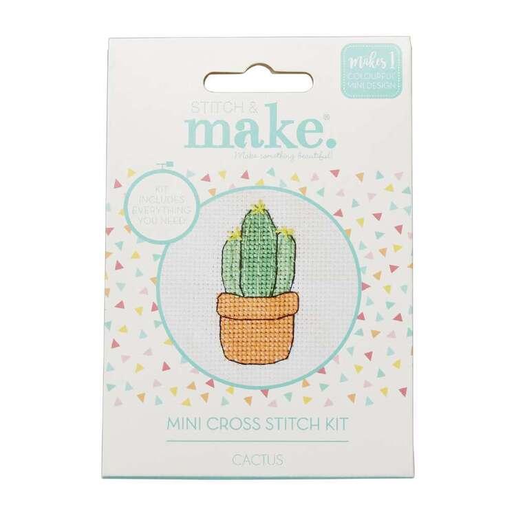 Stitch & Make Cactus Mini Cross Stitch Kit