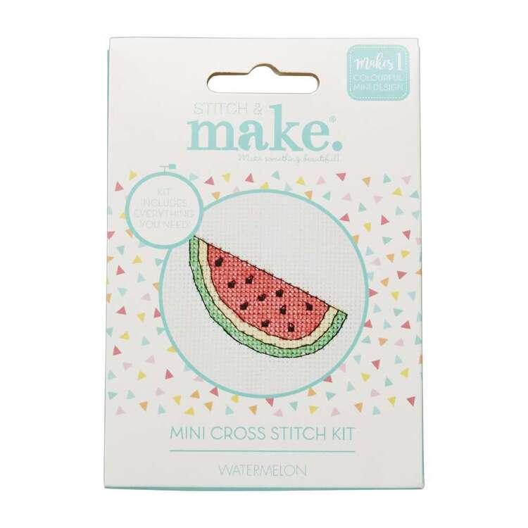 Stitch & Make Watermelon Mini Cross Stitch Kit