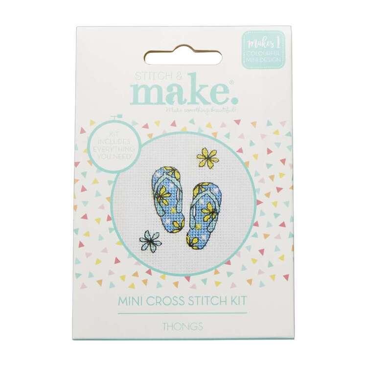 Stitch & Make Thongs Mini Cross Stitch Kit
