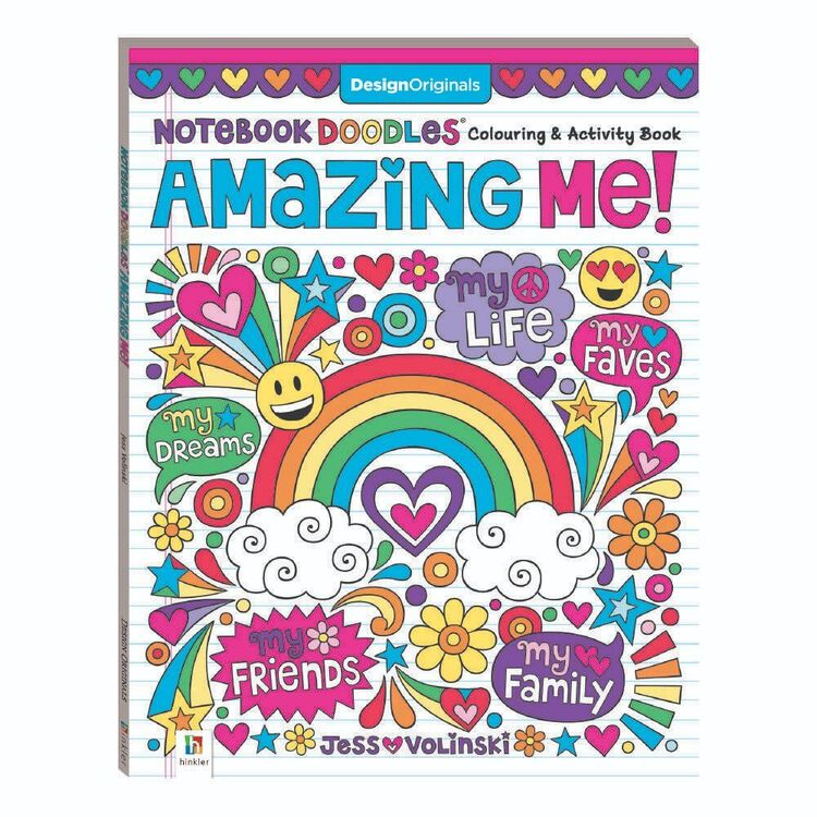 Hinkler Notebook Doodles Colouring & Activity Book