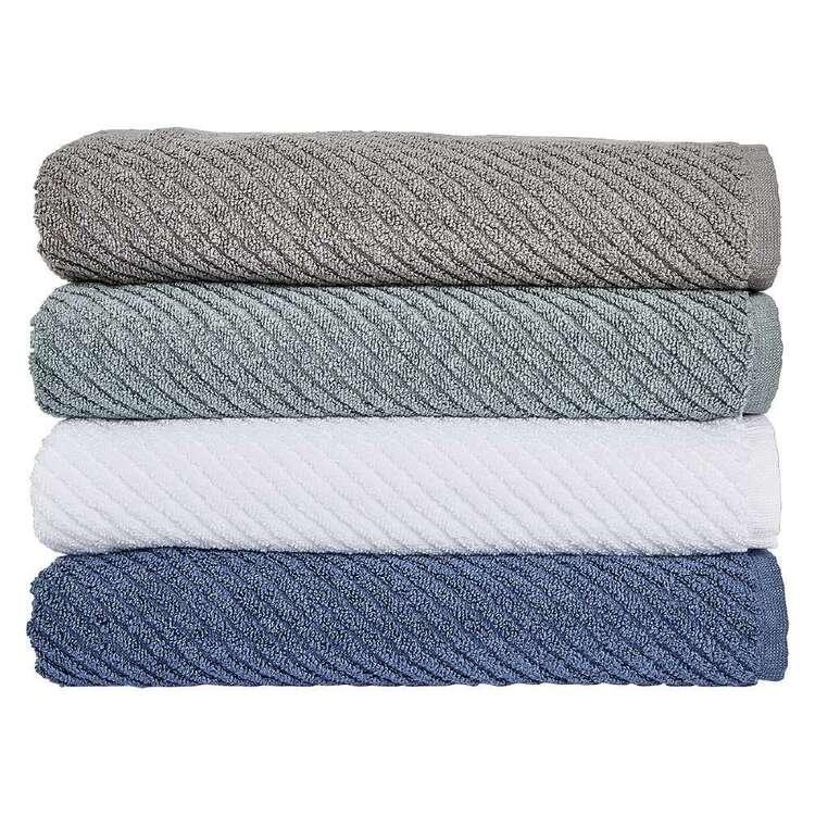 Luxury Living Ribbed Zero Twist Towel Collection