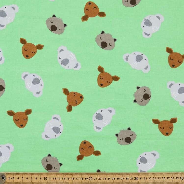 Aus Animals Printed 112 cm Organic Cotton Jersey