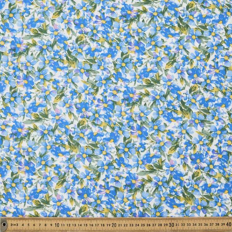 Blue Bellas Printed 135 cm Rayon Fabric