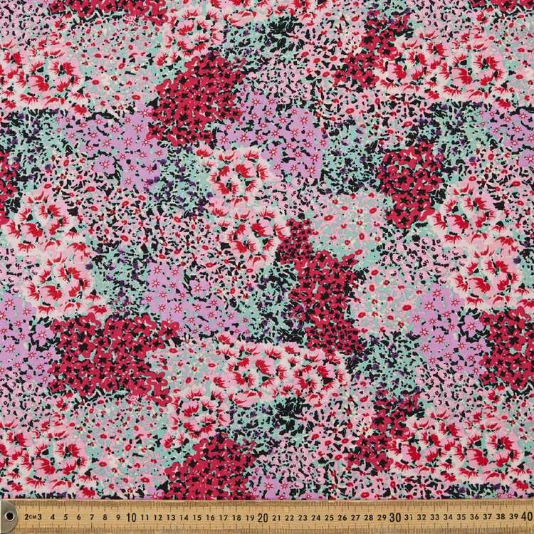 Bright Patch Printed 135 cm Rayon Fabric