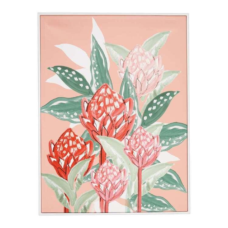 Oasis Living Protea Flower Framed Canvas Print
