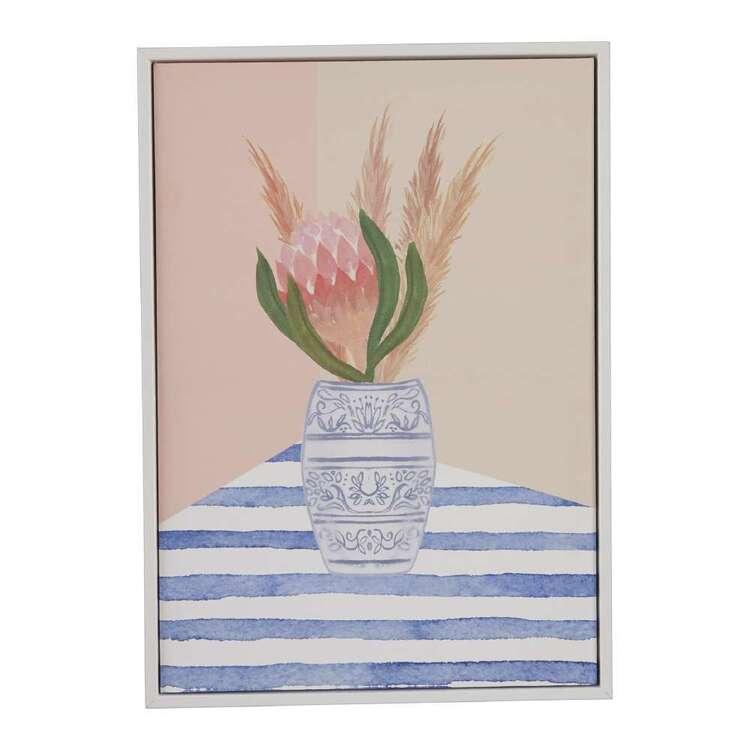 Oasis Living Protea In Vase Framed Canvas Print