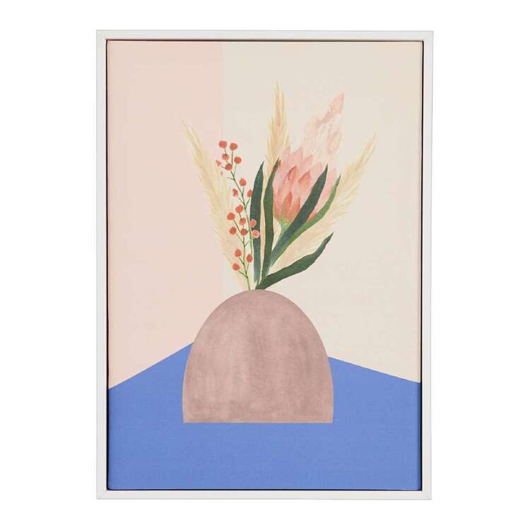 Oasis Living Protea In Pot Framed Canvas Print
