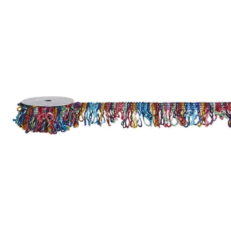 Oasis Living Chenille Multicoloured Fringe Ribbon