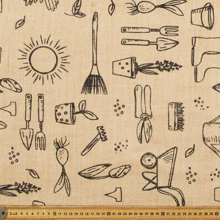 Gardening Printed Hessian Fabric