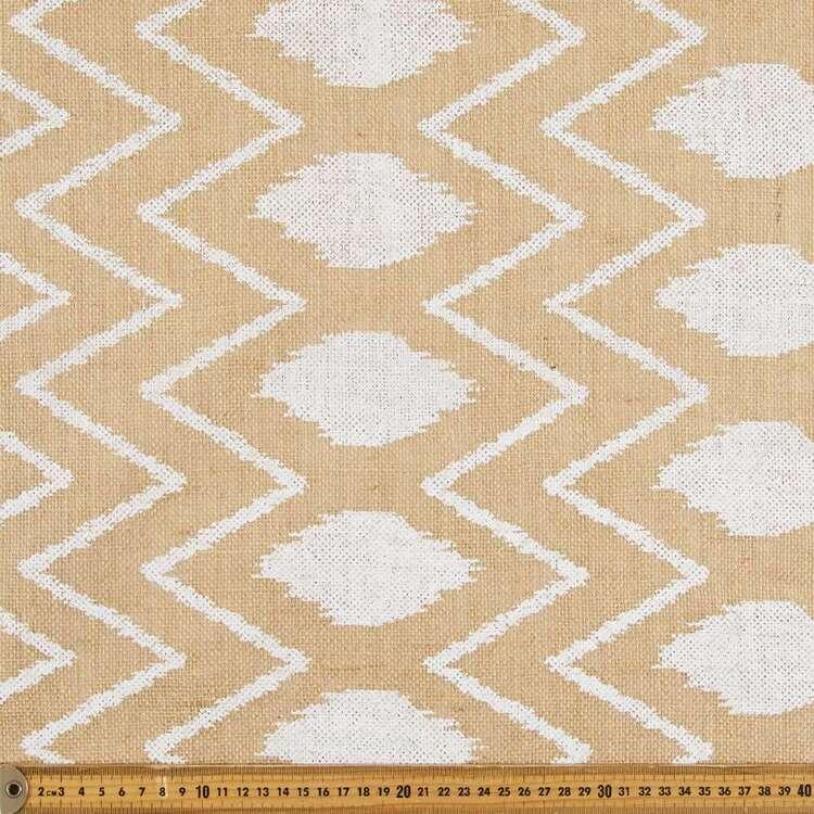 Ikat Printed Hessian Fabric