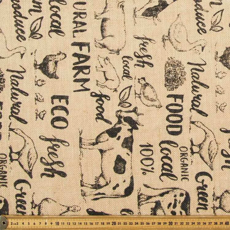 Farmers Market Printed Hessian Fabric