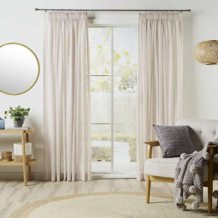 KOO Linear Sheer Pencil Pleat Curtains