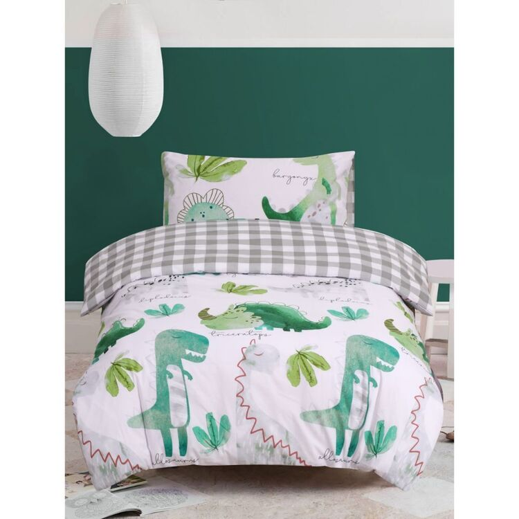 Kids House Dino Pals Quilt Cover Set
