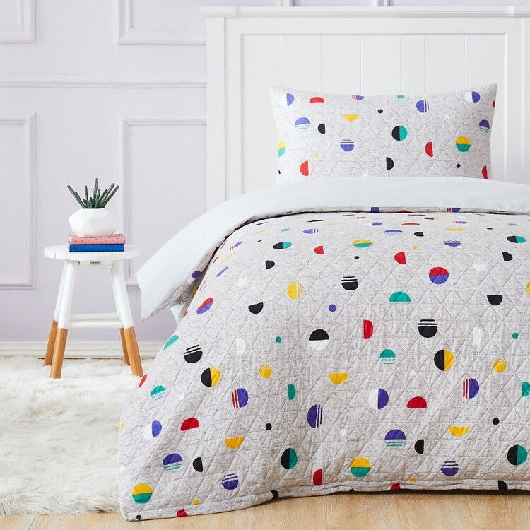 Kids House Maxi Quilted Quilt Cover Set