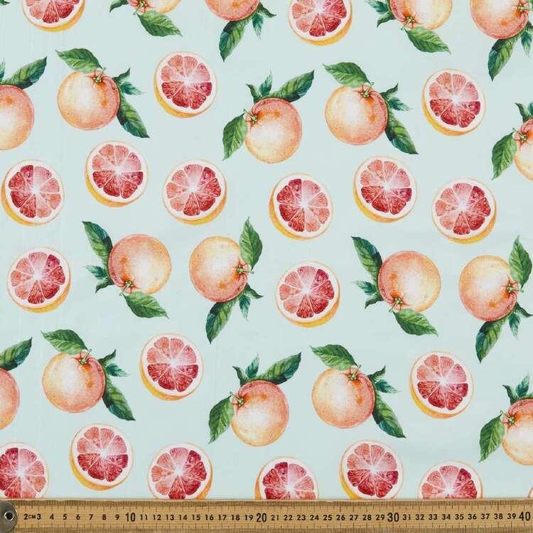 Grapefruit Digital Printed 112 cm Cotton Poplin Fabric