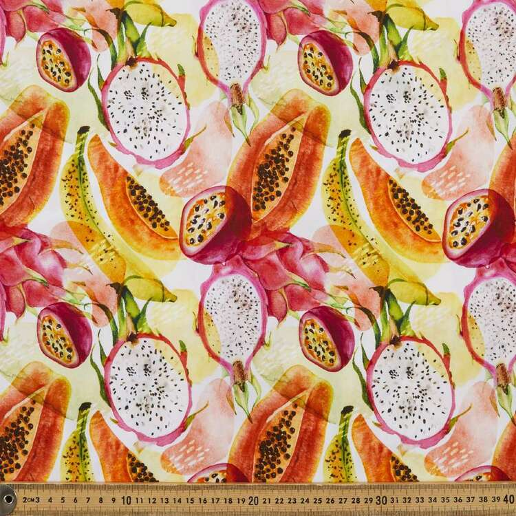 Tropical Fruit Digital Printed 112 cm Cotton Poplin Fabric