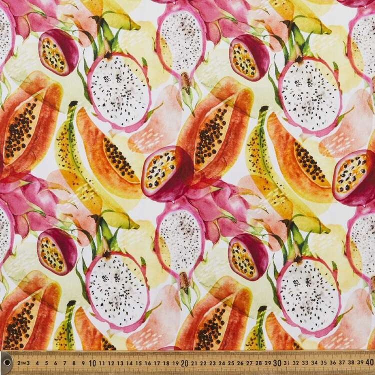 Tropical Fruit Digital Printed 112 cm Montreaux Drill Fabric