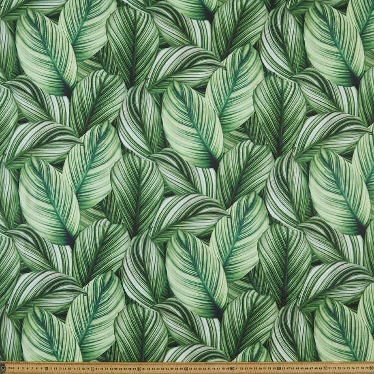 Spathiphillum Digital Printed 112 cm Montreaux Drill Fabric