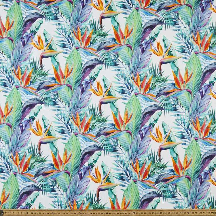 Bird Of Paradise Digital Printed 112 cm Montreaux Drill Fabric