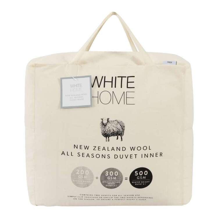 White Home All Seasons New Zealand Wool Duvet Inner