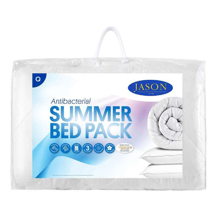 Jason Anti-Bacterial Summer Bed Pack White