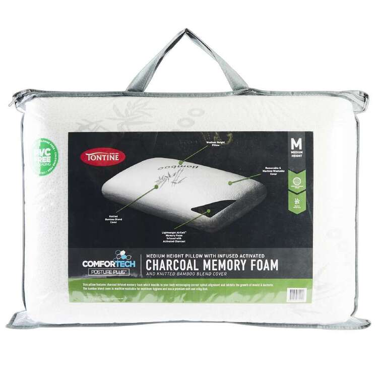 Tontine Comfortech Charcoal Infused Memory Foam Pillow