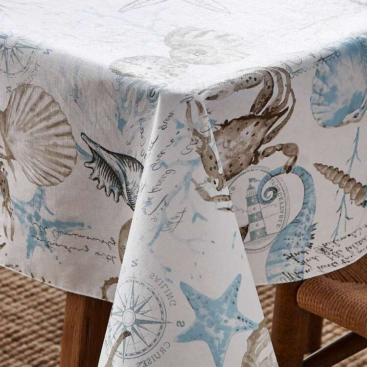 Living Space Shells Printed Tablecloth