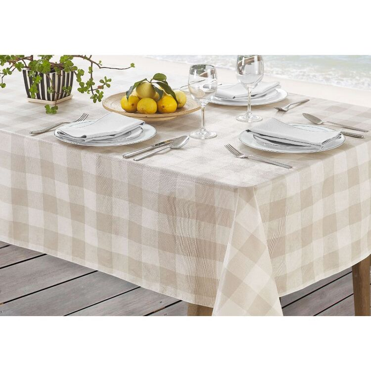 Living Space Gingham Printed Tablecloth