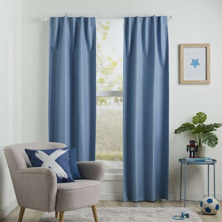 Koo Kids Archie Blockout Concealed Tab Curtains