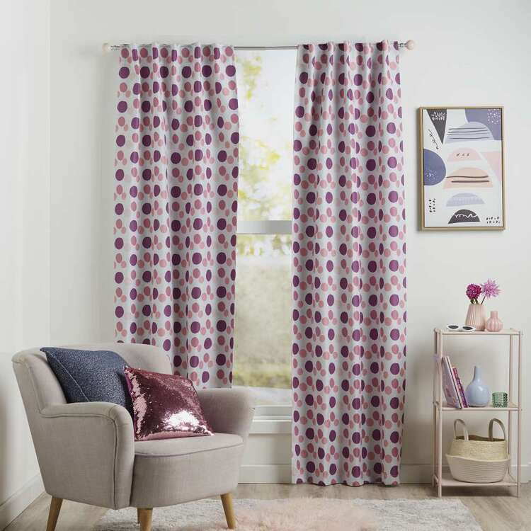 Koo Kids Chloe Dots Printed Blockout Concealed Tab Curtains