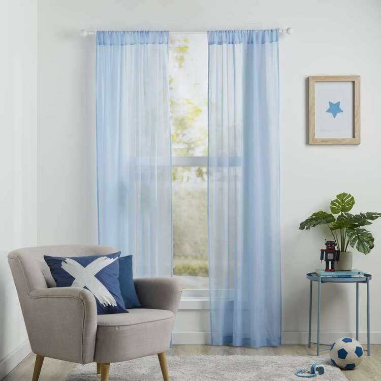 Koo Kids Archie Sheer Rod Pocket Curtains