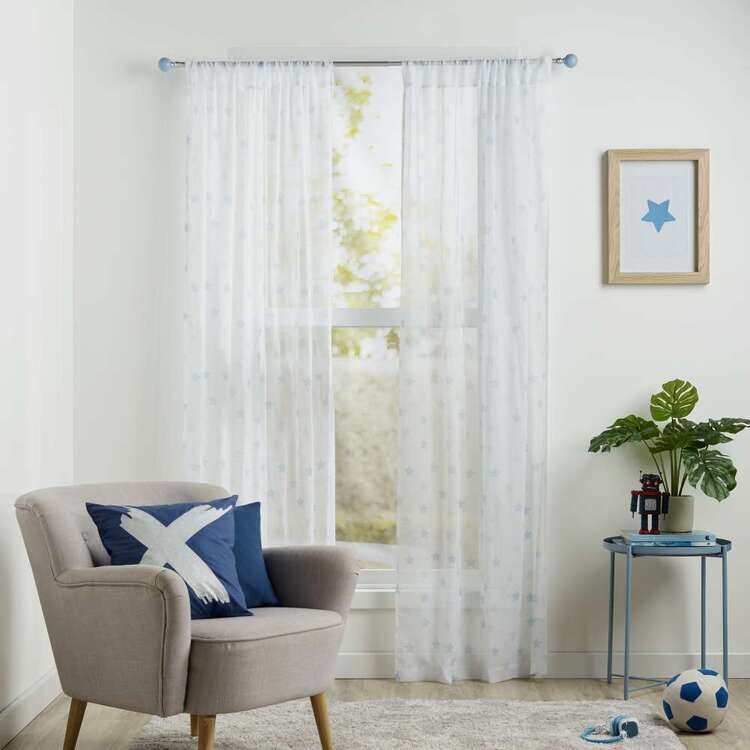 Koo Kids Archie Dots Printed Sheer Rod Pocket Curtains