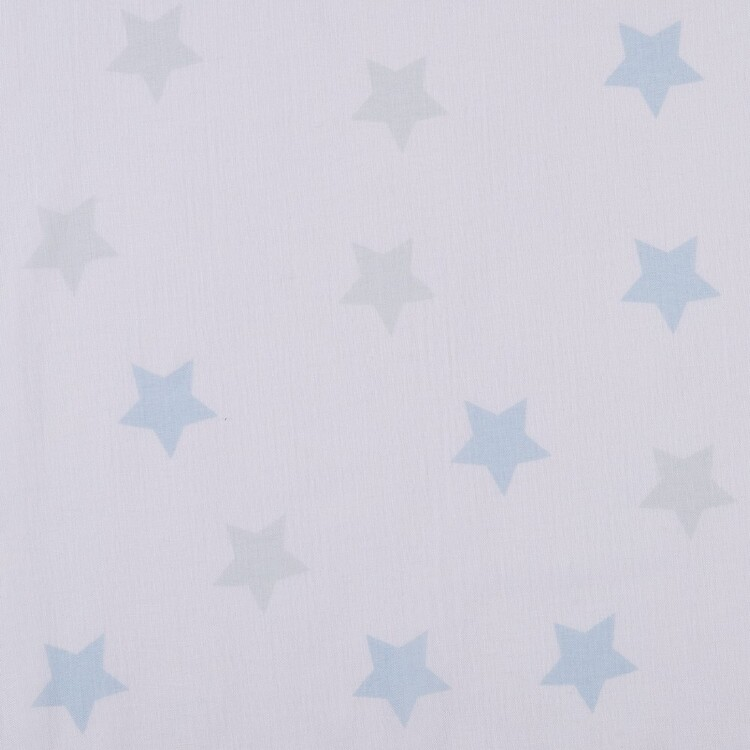 Koo Kids Archie Stars Printed Sheer Rod Pocket Curtains