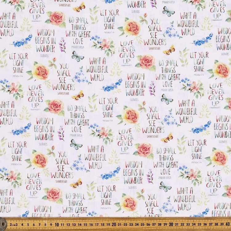 Garden Inspiration Flowers Cotton Fabric