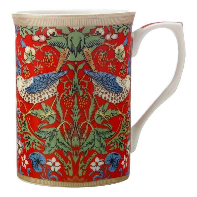 Casa Domani William Morris Red Strawberry Thief Mug
