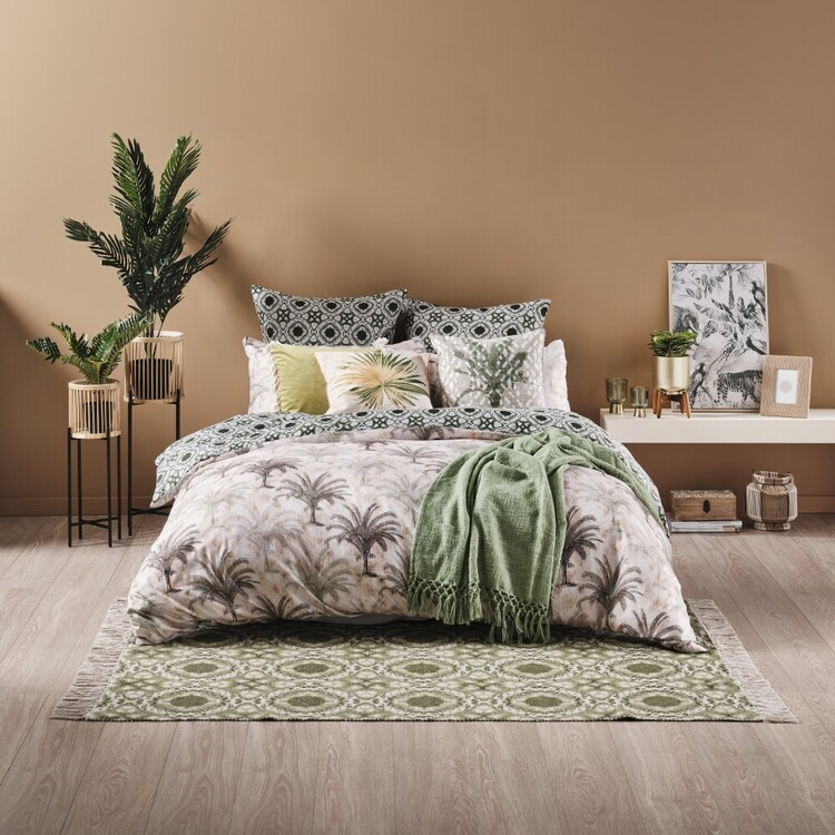 Ombre Home Urban Jungle Palm Quilt Cover Set