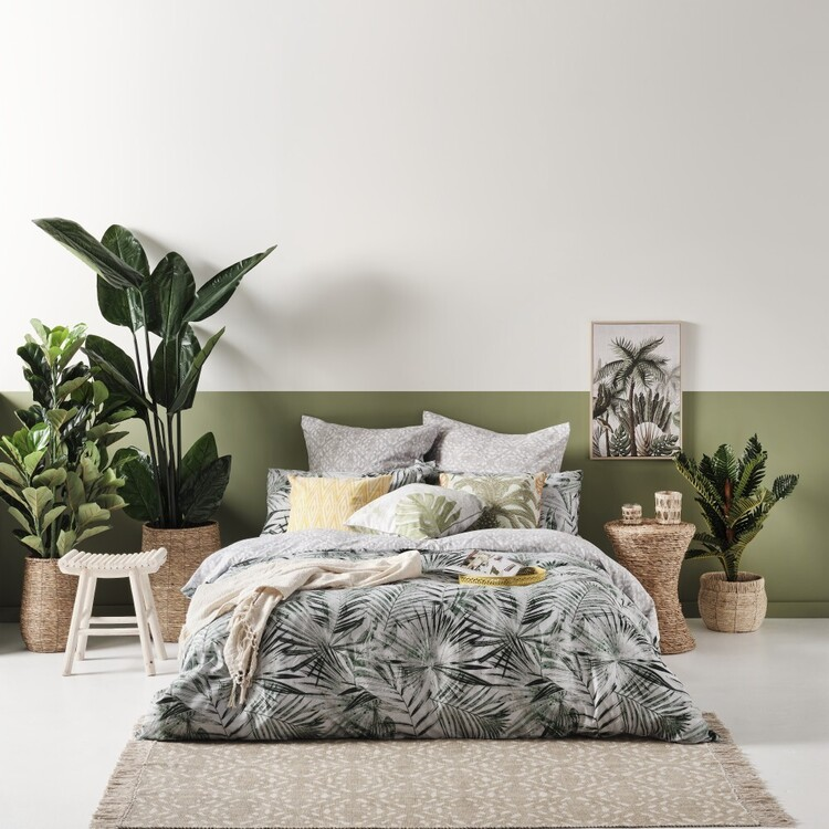 Ombre Home Urban Jungle Fern Quilt Cover Set