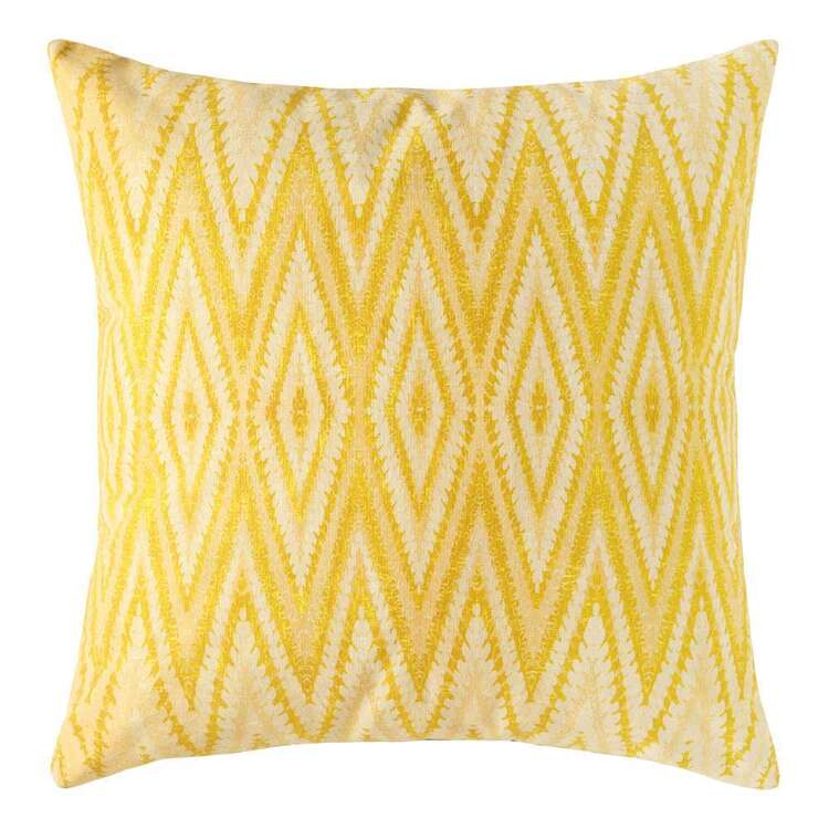 Ombre Home Urban Jungle Printed Boho Diamond Cushion