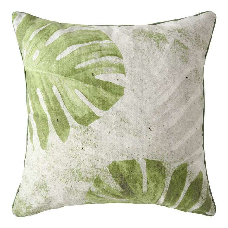 Ombre Home Urban Jungle Printed Leaf Cushion